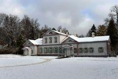 博物馆储备的'Abramtsevo'主要庄园住宅 免版税库存照片