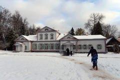博物馆储备的'Abramtsevo'主要庄园住宅 库存照片