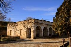 博物馆在Sassanid堡垒纳伦Kala在Derbent市,达吉斯坦共和国 免版税库存图片