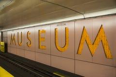 博物馆地铁站-多伦多,安大略,加拿大, 免版税库存图片