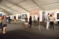 博物馆夜布加勒斯特-世界新闻摄影比赛2013年陈列的 免版税图库摄影