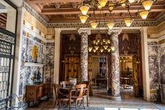 博物馆希腊,别墅Kerylos,内部 库存照片