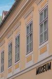博物馆文字商标 免版税库存图片