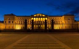 博物馆晚上俄国白色 免版税图库摄影