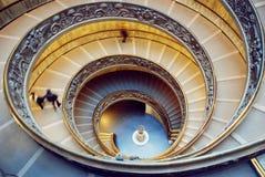 博物馆楼梯,梵蒂冈 免版税库存图片