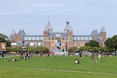 博物馆正方形的,阿姆斯特丹人们 免版税库存照片