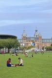 博物馆正方形的,阿姆斯特丹人们 库存照片