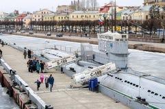 博物馆潜水艇S-189,顶视图 免版税库存图片