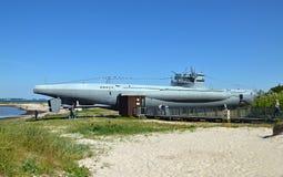 博物馆潜水艇U 955在拉博埃/德国 免版税库存照片
