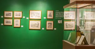 博物馆的绘画和装饰 免版税图库摄影