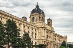 博物馆自然历史,维也纳,奥地利看法  图库摄影