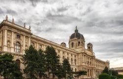 博物馆自然历史,维也纳,奥地利看法  免版税库存照片