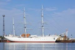博物馆船在施特拉尔松德的Gorch Fock 库存图片