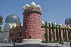 博物馆艺术家萨尔瓦多・达利西班牙门面  免版税库存照片
