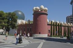 博物馆艺术家萨尔瓦多・达利西班牙门面  库存照片