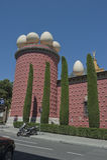 博物馆艺术家萨尔瓦多・达利西班牙门面  免版税库存图片