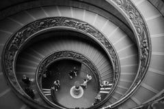 博物馆螺旋形楼梯梵蒂冈 库存照片