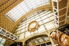 博物馆d'Orsay内部 免版税库存图片