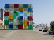 博物馆Pompidu -马拉加Anadalucia España 库存图片