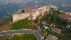 维博瓦伦蒂亚城堡的鸟瞰图 卡拉布里亚意大利 股票视频