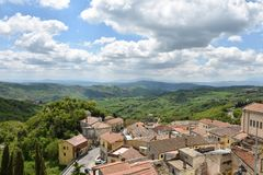 博纳尔贝尔戈,鬼城在意大利南部 免版税库存照片