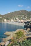 博纳索拉镇意大利海岸的 图库摄影