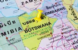 博茨瓦纳地图 免版税库存图片