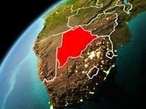 博茨瓦纳的晚上视图地球上的 免版税库存图片