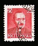 博莱斯瓦夫Bierut (1892-1956), serie总统,大约1950年 免版税图库摄影