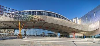 博览会、国会和商品交易会中心在马拉加,西班牙 免版税库存照片