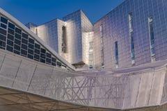 博览会、国会和商品交易会中心在马拉加,西班牙 免版税图库摄影