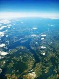 博登湖/Bodensee,德国/瑞士-鸟瞰图 图库摄影