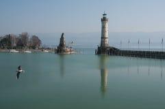 博登湖Bodensee,林道港口  库存图片