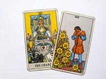 占卜用的纸牌占卜隐密魔术 库存图片