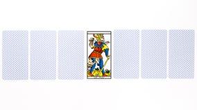 占卜用的纸牌暗淡凹道 免版税库存图片