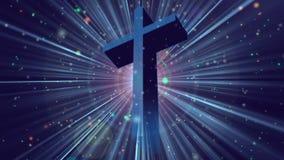 占卦崇拜十字架1 Loopable背景 皇族释放例证