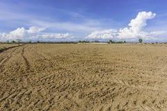 占地面积土壤调整和开垦项目 库存图片