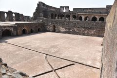 占城Baoli &哈马姆, Mandu,中央邦 图库摄影