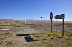 占士・甸失事地点, Cholame加州 库存照片