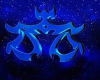 占星天秤座 免版税库存照片