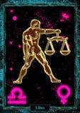 占星术例证:天秤座 免版税库存图片