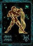 占星术例证:宝瓶星座 免版税库存图片