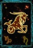 占星术例证:山羊座 库存图片