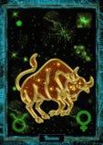 占星术例证:金牛座 图库摄影