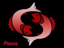 占星术双鱼座符号 库存图片
