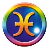 占星术双鱼座符号 图库摄影
