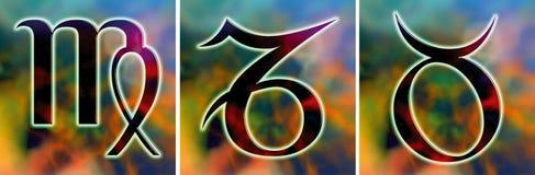 占星术地球符号 免版税图库摄影