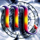 占星术天蝎座符号 向量例证
