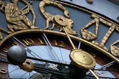 占星术时钟 免版税库存照片