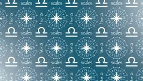 占星术标志天秤座 皇族释放例证